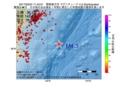 地震震源マップ:2017年03月24日 11時43分 関東東方沖 M4.3