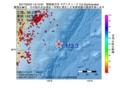 地震震源マップ:2017年03月24日 13時15分 関東東方沖 M3.3