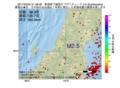 地震震源マップ:2017年03月24日 21時38分 新潟県下越地方 M2.5