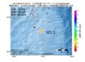 地震震源マップ:2017年03月24日 21時53分 八丈島近海 M3.3