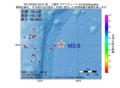 地震震源マップ:2017年03月24日 22時21分 三陸沖 M3.8