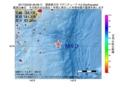 地震震源マップ:2017年03月25日 09時26分 関東東方沖 M4.0