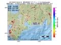地震震源マップ:2017年03月27日 03時45分 愛知県西部 M3.4
