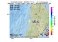 地震震源マップ:2017年03月29日 01時53分 秋田県沖 M2.5