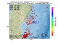 地震震源マップ:2017年03月29日 03時42分 宮城県沖 M2.5