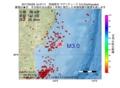 地震震源マップ:2017年03月29日 15時47分 宮城県沖 M3.0