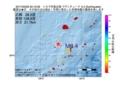 地震震源マップ:2017年03月29日 20時10分 トカラ列島近海 M3.4