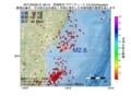 地震震源マップ:2017年03月29日 21時48分 宮城県沖 M2.6