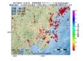 地震震源マップ:2017年03月31日 13時45分 茨城県南部 M2.8