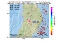 地震震源マップ:2017年04月01日 21時51分 秋田県内陸南部 M3.0