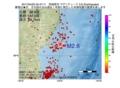 地震震源マップ:2017年04月05日 05時47分 宮城県沖 M2.6