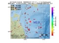 地震震源マップ:2017年04月05日 16時25分 青森県東方沖 M2.5