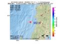 地震震源マップ:2017年04月05日 19時09分 秋田県沖 M2.9