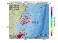 地震震源マップ:2017年04月06日 08時42分 宮城県沖 M2.6
