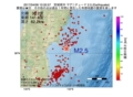 地震震源マップ:2017年04月06日 10時32分 宮城県沖 M2.5