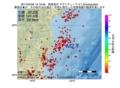 地震震源マップ:2017年04月06日 15時19分 福島県沖 M2.7