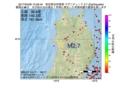 地震震源マップ:2017年04月06日 15時29分 秋田県沿岸南部 M2.7