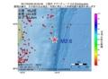 地震震源マップ:2017年04月06日 20時50分 三陸沖 M2.6