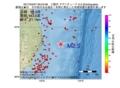 地震震源マップ:2017年04月07日 20時24分 三陸沖 M2.5