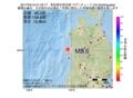 地震震源マップ:2017年04月10日 21時42分 秋田県沿岸北部 M2.6
