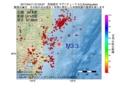 地震震源マップ:2017年04月11日 07時03分 茨城県沖 M3.3
