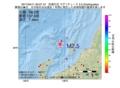 地震震源マップ:2017年04月11日 20時27分 佐渡付近 M2.5