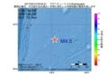 地震震源マップ:2017年04月12日 00時25分  M4.5
