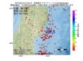 地震震源マップ:2017年04月12日 01時53分 宮城県沖 M2.6