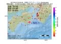 地震震源マップ:2017年04月12日 04時03分 四国沖 M3.1
