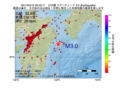 地震震源マップ:2017年04月12日 05時33分 日向灘 M3.0