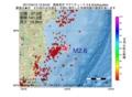 地震震源マップ:2017年04月12日 15時24分 福島県沖 M2.6