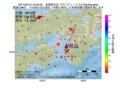地震震源マップ:2017年04月12日 16時40分 淡路島付近 M3.3