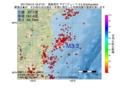 地震震源マップ:2017年04月12日 16時47分 福島県沖 M3.3