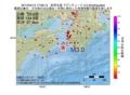 地震震源マップ:2017年04月12日 17時09分 紀伊水道 M3.0