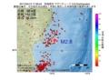 地震震源マップ:2017年04月12日 17時38分 宮城県沖 M2.8