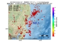 地震震源マップ:2017年04月13日 23時41分 茨城県沖 M2.5