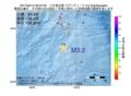 地震震源マップ:2017年04月14日 03時37分 八丈島近海 M3.2