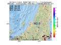 地震震源マップ:2017年04月15日 17時40分 新潟県下越沖 M2.8