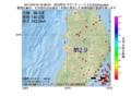 地震震源マップ:2017年04月16日 18時58分 秋田県沖 M2.9