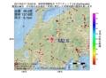 地震震源マップ:2017年04月17日 19時02分 岐阜県飛騨地方 M2.6