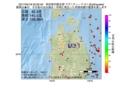 地震震源マップ:2017年04月18日 02時02分 秋田県内陸北部 M3.1