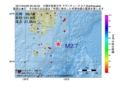 地震震源マップ:2017年04月20日 05時42分 大隅半島東方沖 M2.7