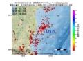 地震震源マップ:2017年04月20日 18時21分 福島県沖 M3.0