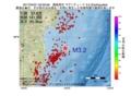 地震震源マップ:2017年04月21日 00時59分 福島県沖 M3.2