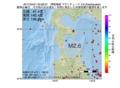地震震源マップ:2017年04月21日 03時08分 津軽海峡 M2.6