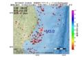 地震震源マップ:2017年04月21日 10時46分 宮城県沖 M3.0