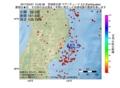 地震震源マップ:2017年04月21日 13時30分 宮城県北部 M2.5