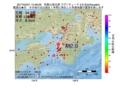 地震震源マップ:2017年04月21日 13時48分 和歌山県北部 M2.9