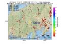 地震震源マップ:2017年04月21日 17時12分 長野県中部 M2.8