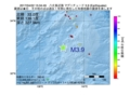 地震震源マップ:2017年04月22日 15時34分 八丈島近海 M3.9